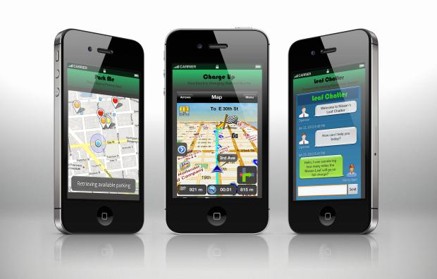 Nissan Leaf Mobile App - EV parking, EV Fuel Stations, Leaf Chatter